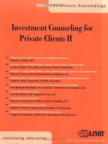 Investment Counseling For Private Clients Ii