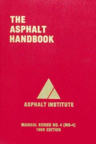 The asphalt handbook: builder's book, inc. Bookstore.