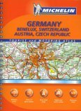 Michelin Germany: Benelux, Switzerland, Austria, Czech Republic: Tourist And Motoring Atlas 978-2067124233 PDF DJVU por Michelin