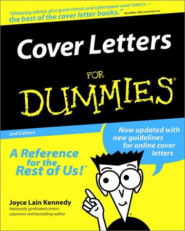 cover letters for dummies elita aisushi co