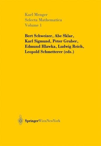 Selecta Mathematica: Volume 1