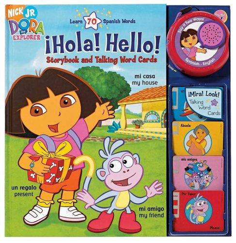 Nick Jr., Dora the Expolrer !Hola! Hello! Storybook and Talking Word Cards