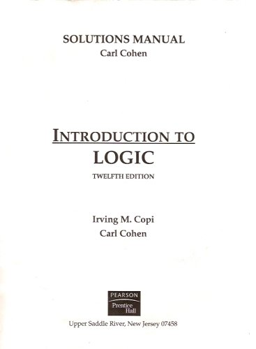solutions manual for introduction to logic by carl cohen rh goodreads com solutions manual introduction to finite elements in engineering solutions manual introduction to genetic analysis