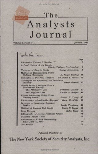 The Analysts Journal - 1945 Commemorative Edition