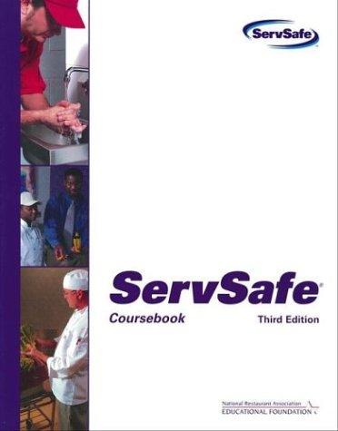 Servsafecoursebook with the Scantron Certification Exam Form