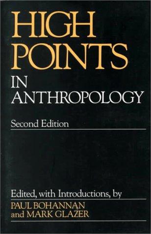 Revisión de libros electrónicos High Points in Anthropology