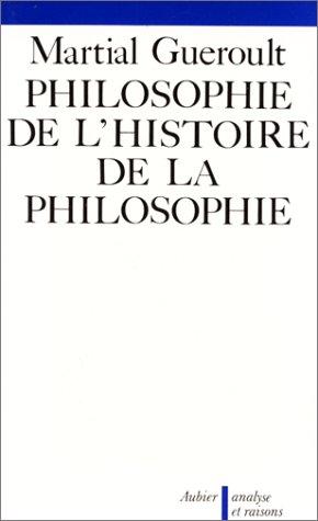 Philosophie De L'histoire De La Philosophie