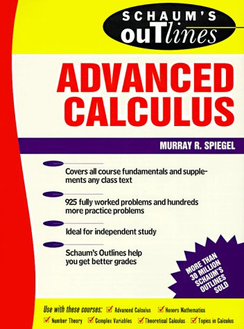 Schaums outline of advanced calculus by murray r spiegel 1404098 fandeluxe Image collections
