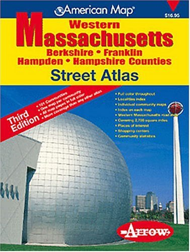 American Map Western Massachusetts Street Atlas: Berkshire, Franklin, Hampden, Hampshire Counties