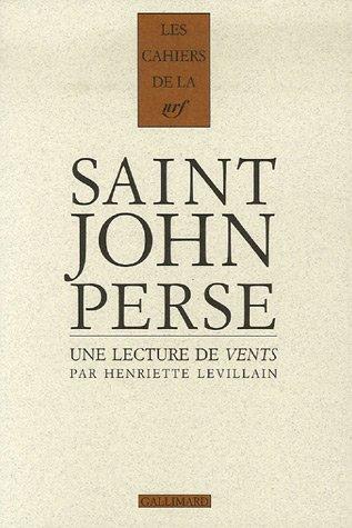 Une lecture de Vents de Saint-John Perse