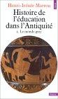 Histoire de l'éducation dans l'Antiquité, 1. Le monde grec