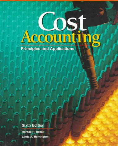 Cost Accounting: Principles and Applications, Text