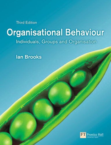 organisational behaviour ch7 Ch 11 organizational culture 060802doc 060802 chapter 11 organizational culture1 by kathryn a baker the literature on organizational culture is as relevant to public science management as it is to the.