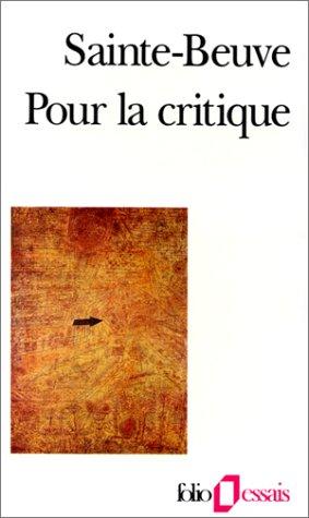 Pour la critique