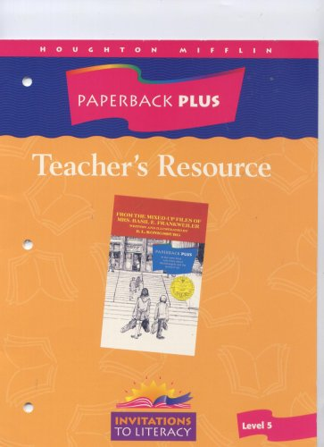 Paperback Plus Teacher's Resource Guided Reading: From the Mixed Up Files of Mrs. Basil E. Frankweiler