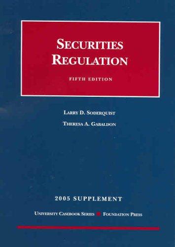 Securities Regulation -- 2005 Supplement