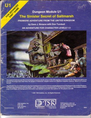 Sinister Secret Salt Marsh(Advanced Dungeons and Dragons Module U1)