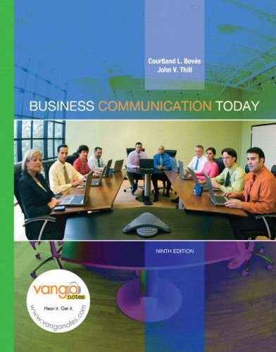 Business communication today by courtland l bove 1766570 fandeluxe Gallery