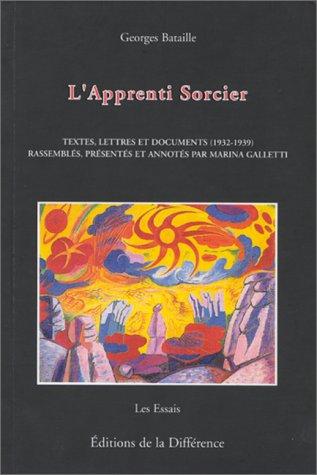 cover art for L'Apprenti Sorcier du cercle communiste démocratique à Acéphale: textes, lettres et documents (1932-1939)
