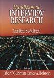 Handbook of Interview Research by Jaber F. Gubrium