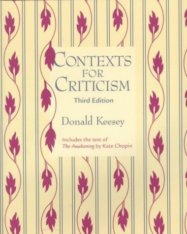 Contexts For Criticism by Donald Keesey