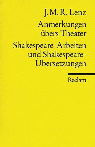 Anmerkungen übers Theater / Shakespeare-Arbeiten und Shakespeare-Übersetzungen