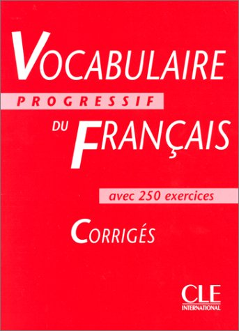 Vocabulaire progressif du franais niveau intermdiaire corrigs 1866261 fandeluxe Image collections