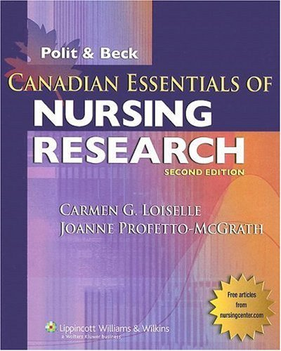 Canadian Essentials of Nursing Research [With CDROM]