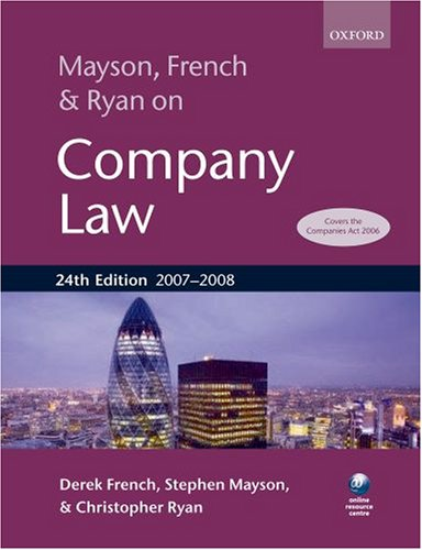 Mayson, French & Ryan on Company Law