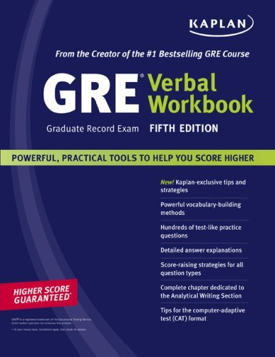 Kaplan GRE Exam Verbal Workbook