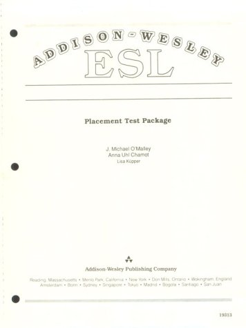 Addison-Wesley ESL Placement Test Package (Reproducible Blackline Masters)