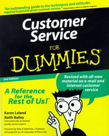 customer service for dummies by karen leland rh goodreads com Generic Customer Service Career Path customer service guide book