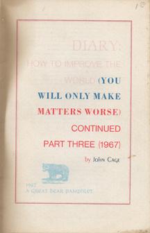 Diary by John Cage