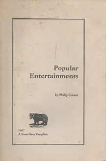 Popular Entertainments by Philip Corner