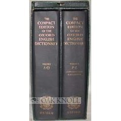 The Compact Edition of the Oxford English Dictionary, 2 Vols w/Reading Glass