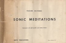Sonic Meditations by Pauline Oliveros