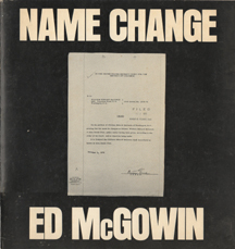 Name Change by Ed Mcgowin