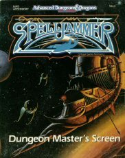 Dungeon Master's Screen (Advanced Dungeons & Dragons/Spelljammer, SJR3 Accessory)