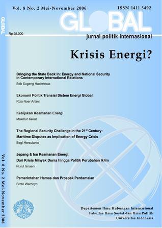 Global Jurnal Politik Internasional : Krisis Energi?