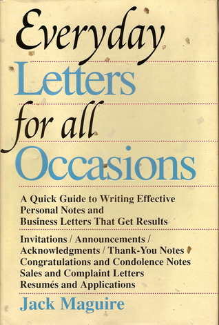 Everyday letters for all occasions by jack maguire everyday letters for all occasions expocarfo Image collections