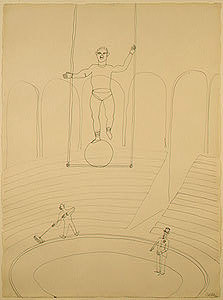 alexander calder circus drawings wire sculpture and toys