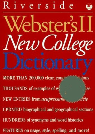 Webster's II New College Dictionary by American Heritage Dictionary