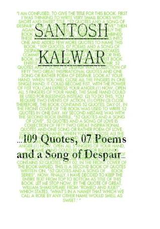 PDF descargar libros electrónicos gratis …109 Quotes, 07 Poems and a Song of Despair…
