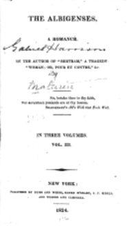Albigenses by Charles Robert Maturin