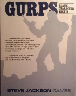 GURPS: Blank Character Sheets