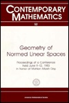 Geometry Of Normed Linear Spaces: Prodeedings Of A Conference Held June 9 12, 1983, In Honor Of Mahlon Marsh Day