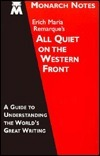 Monarch Notes on Erich Maria Remarque's All Quiet on the Western Front