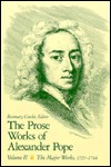 The Prose Works of Alexander Pope