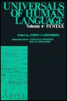 Universals Of Human Language, vol. 4: Syntax