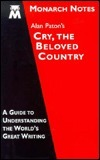 Alan Paton's Cry, the beloved country (Monarch notes)